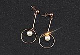 Сережки з перлами Srcoi рожеве золото, фото 3