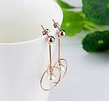 Сережки з перлами Srcoi рожеве золото, фото 5