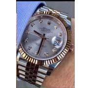 Rolex Datejust Diamond Silver-Cuprum-Gray, фото 2
