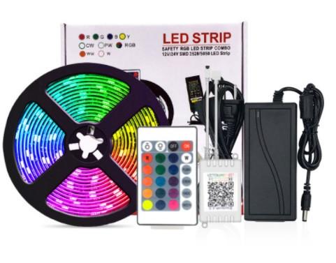 Світлодіодна стрічка LED SMD 3528 RGB 5m