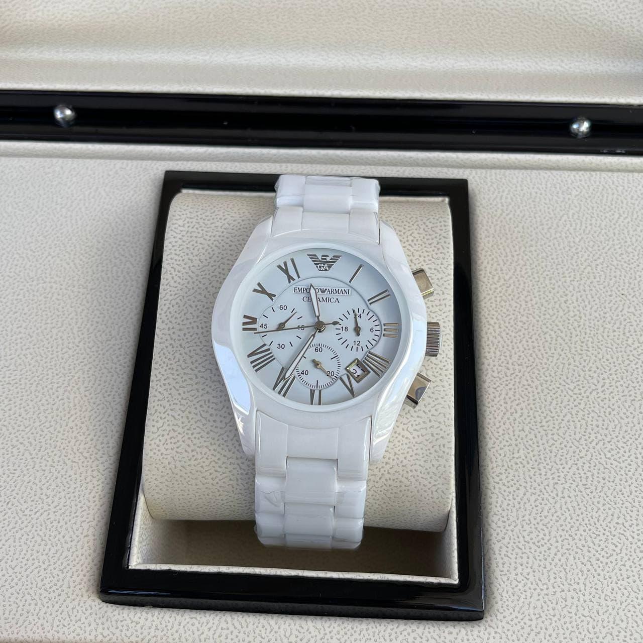 Годинники наручні Emporio Armani AR-1400 White-Silver