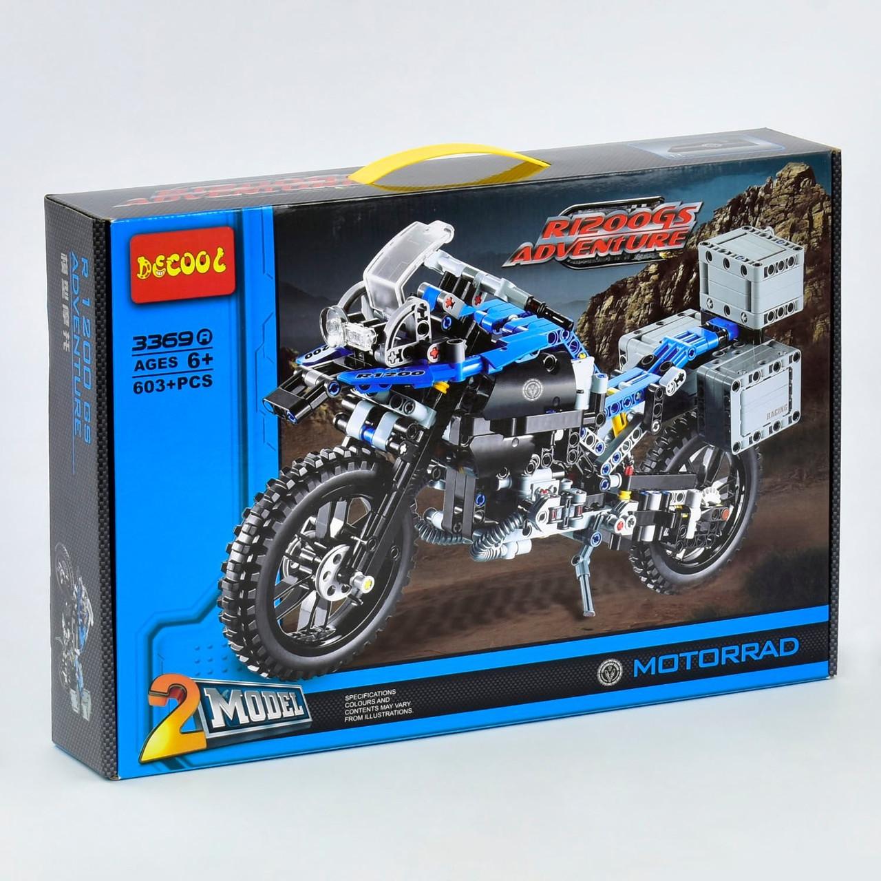 """Конструктор 3369 А, """"Мотоцикл"""", 603 деталей"""