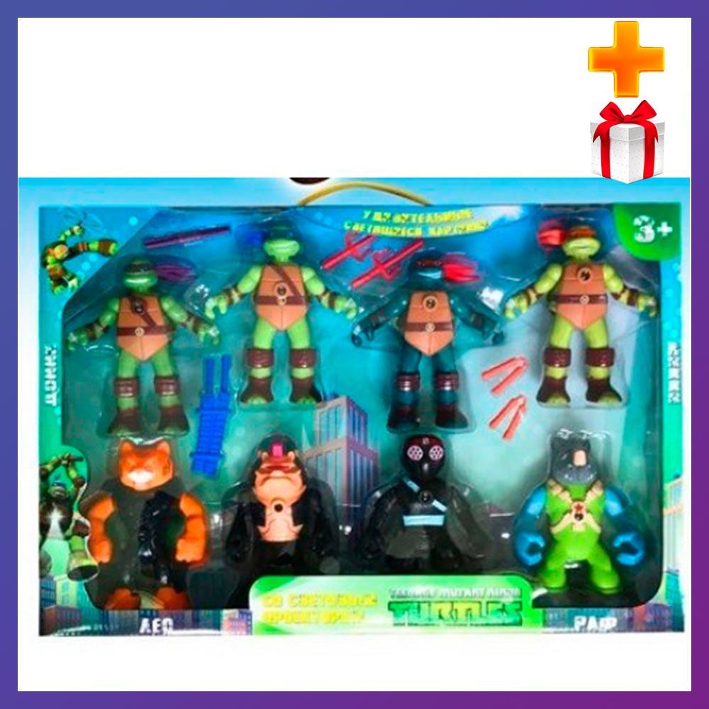 Детский игровой набор черепашки ниндзя 0813-1 Набор фигурок черепашек ниндзя