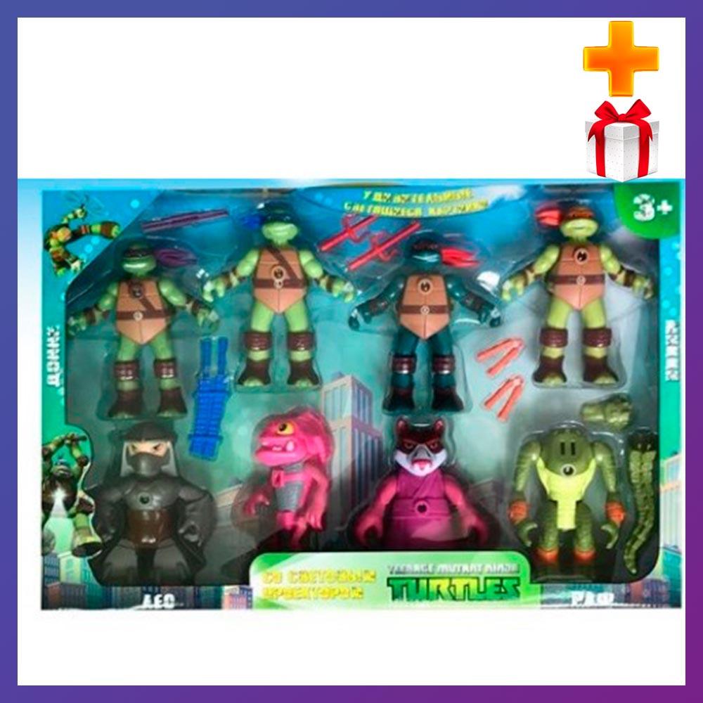 Детский игровой набор черепашки ниндзя 0813-2 Набор фигурок черепашек ниндзя