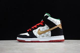 Кросівки чоловічі Nike Dunk High / DNK-134 (Репліка)