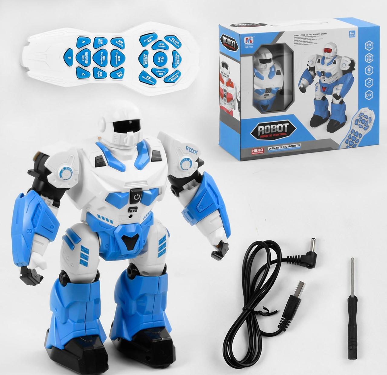 Робот-трансформер  на радиоуправлении 7707, разборной, световые, звуковые эффекты