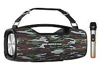 Портативная акустическая стерео колонка Hopestar A6 Pro с беспроводным микрофоном