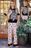 Пижама (майка и брюки) и болеро (Серый, черный)