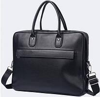 Мужская кожаная сумка портфель для ноутбука Tiding Bag M64A