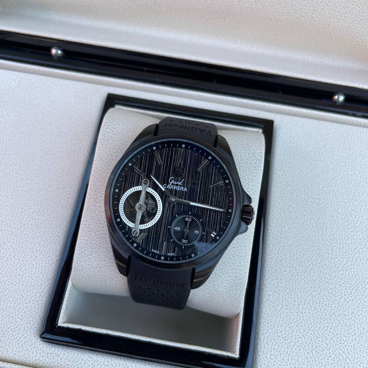 Часы наручные T a g  H e u e r  Grand Carrera Pendulum All Black-Gray