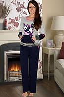 Тёплая пижама (кофта и брюки) (Серый)