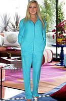 Махровый костюм (кофта и брюки) (Голубой)