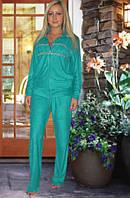 Махровый костюм (кофта и брюки) (Бирюзовый)
