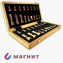 Шахматы классические с магнитом из дерева (38см x 38см)
