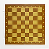 Класичні шахи з магнітом з дерева (39див x 39див) підходять на подарунок, фото 3