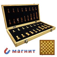 Шахматы классические с магнитом из дерева (39см x 39см) подойдут на подарок