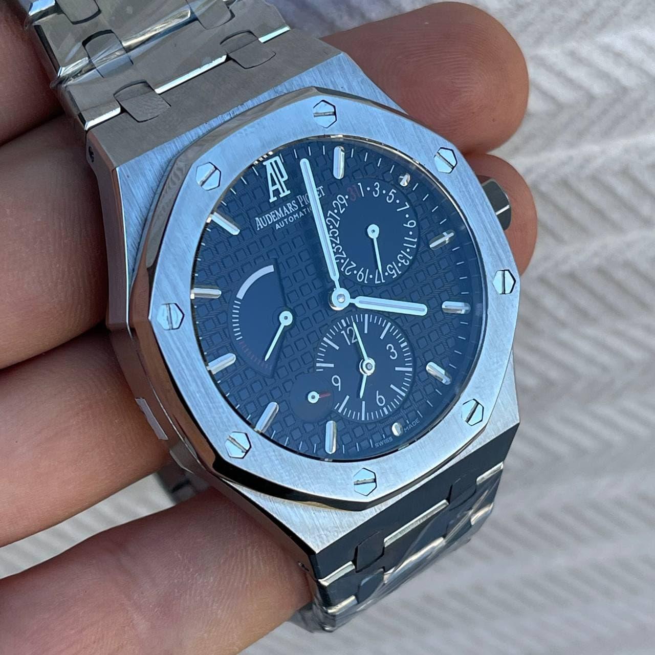 Часы наручные Audemars Piguet Royal Oak Dual Time Silver-Black