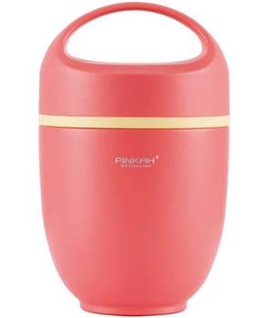 Термос ланч бокс Pinkah PJ-3333-L 820 мл Розовый