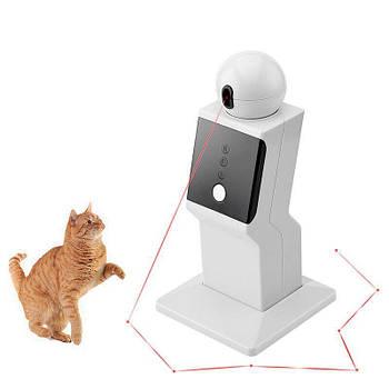 Игрушка для кошек и собак, робот лазерный проектор, 3 режима движения Pet Crazy Laser (03251)