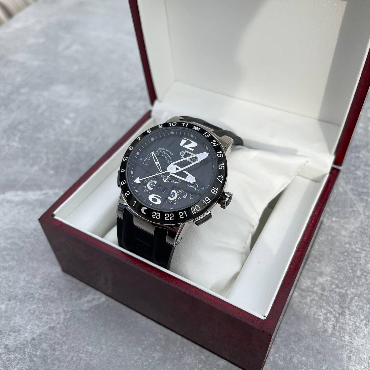 Годинники наручні Ulysse Nardin Executive El Toro GMT Perpetual Silver-Black-Silver