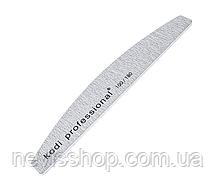 Пилка для нігтів Kodi Professional 100/180 Half Grey, півколо
