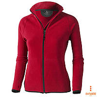 Толстовка-худи флисовая, кофта красная на молнии с карманам Elevate Brossard Lady, под нанесение логотипа