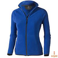 Женская флисовая куртка-толстовка синего цвета на молнии Elevate Brossard Lady