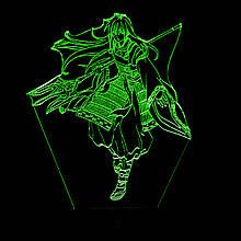 Акриловий світильник-нічник Шева-кун зелений tty-n000948