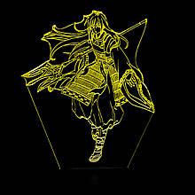 Акриловий світильник-нічник Шева-кун жовтий tty-n000950