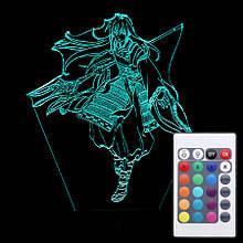Акриловий світильник-нічник з пультом 16 кольорів Шева-кун tty-n000952