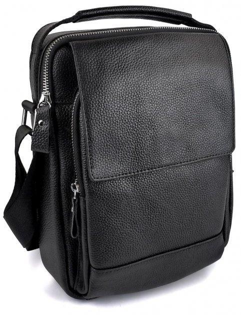 Чоловіча шкіряна сумка SW388 чорна