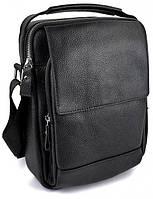 Чоловіча шкіряна сумка SW388 чорна, фото 1