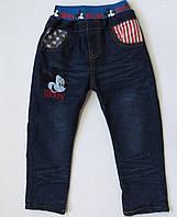 Теплые джинсы Mickey Mouse для мальчика. 100, 110, 120 см, фото 1