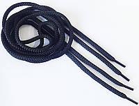 Шнурки  круглые  толстые  черные  1,0 м (5 мм)