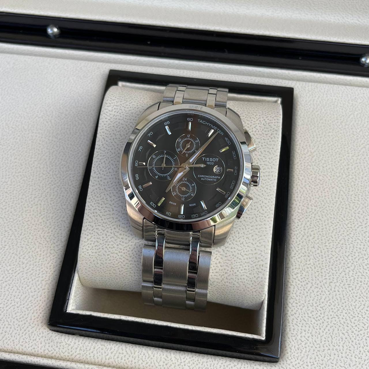 Годинники чоловічі наручні Tissot LT60 Metal Steel Silver-Black Automatic