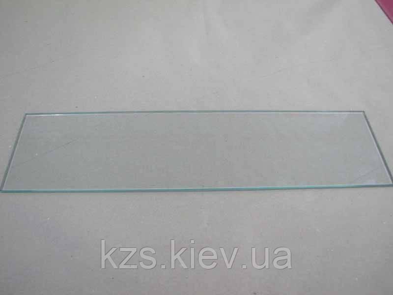 Полка прямоугольная из прозрачного стекла 5 мм. 550х140мм