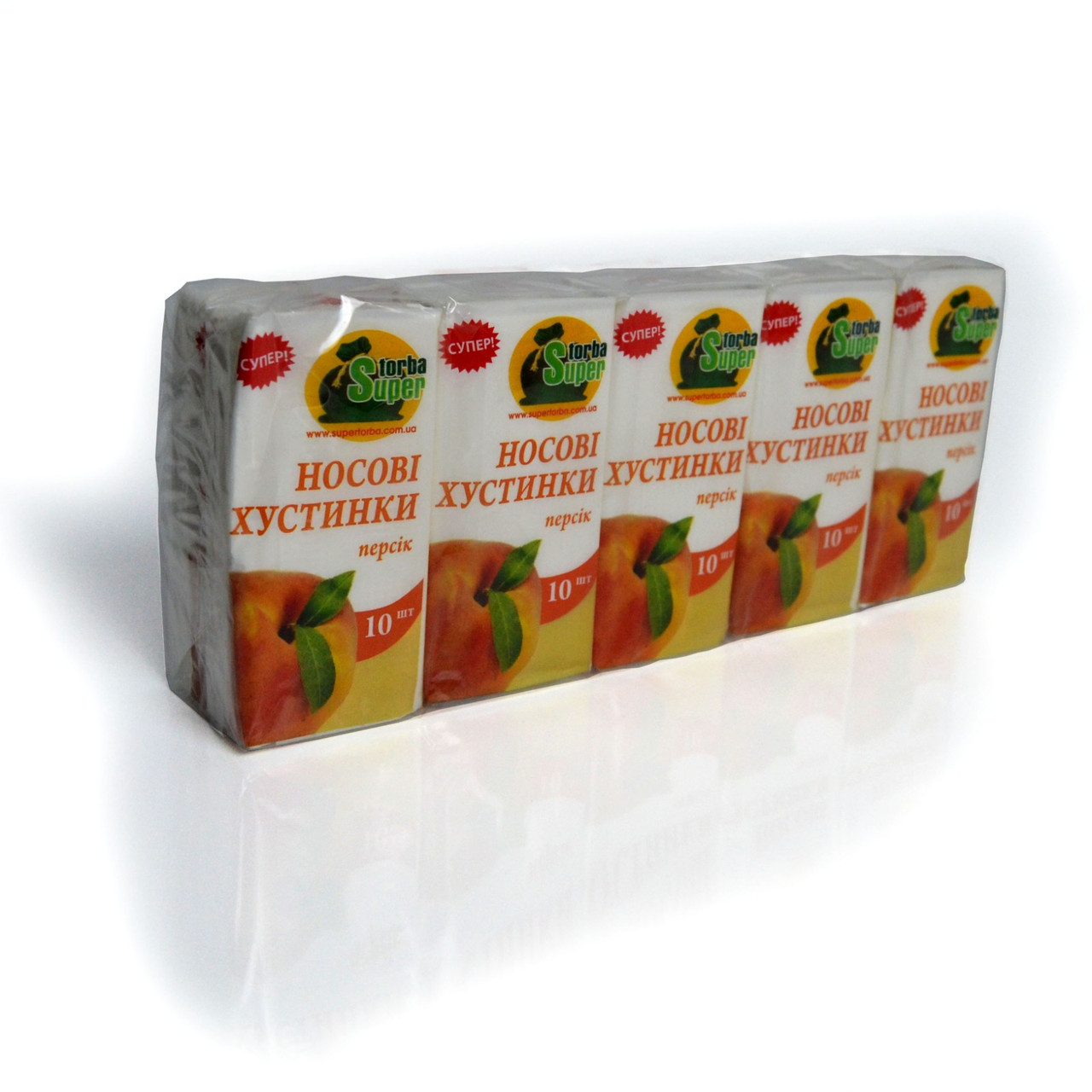 Бумажный носовой платок Супер Торба яблоко (10 шт)