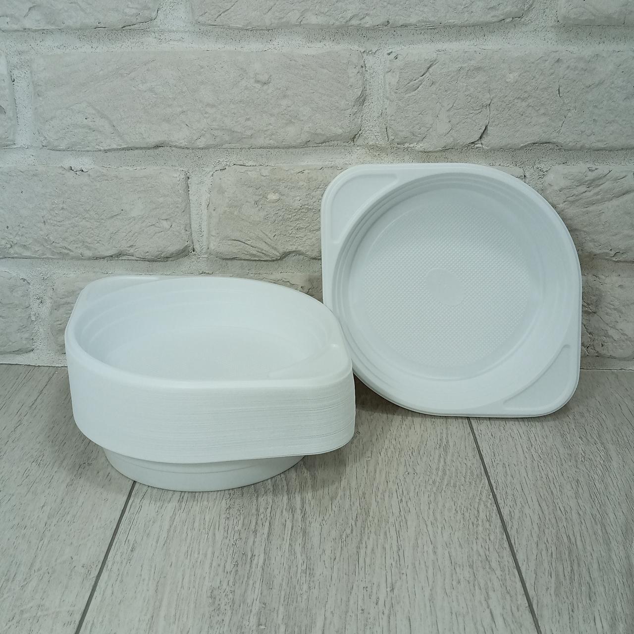 Тарелка пластиковая одноразовая 350гр Андрекс 100 шт