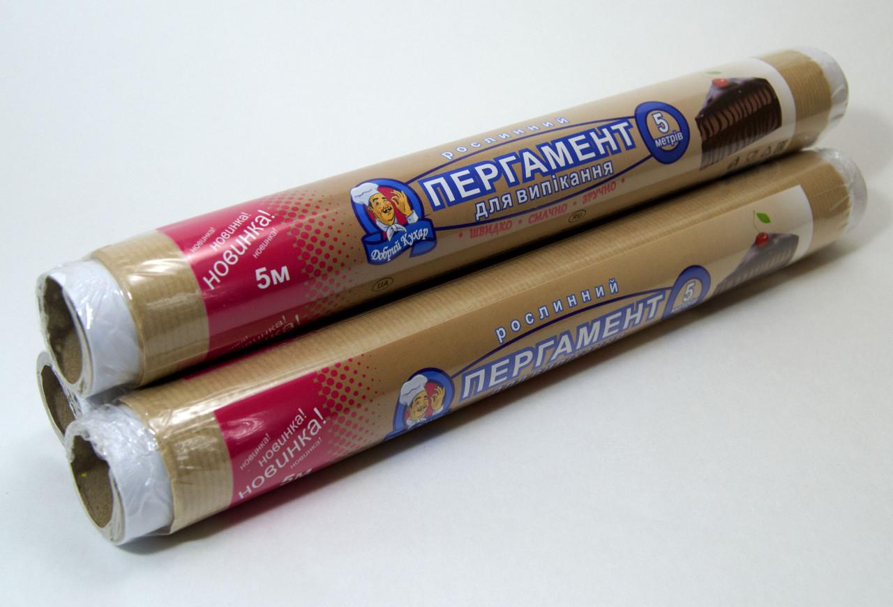 """Пергаментний папір для випічки 5м 29см """"Добрий кухар"""" коричнева"""