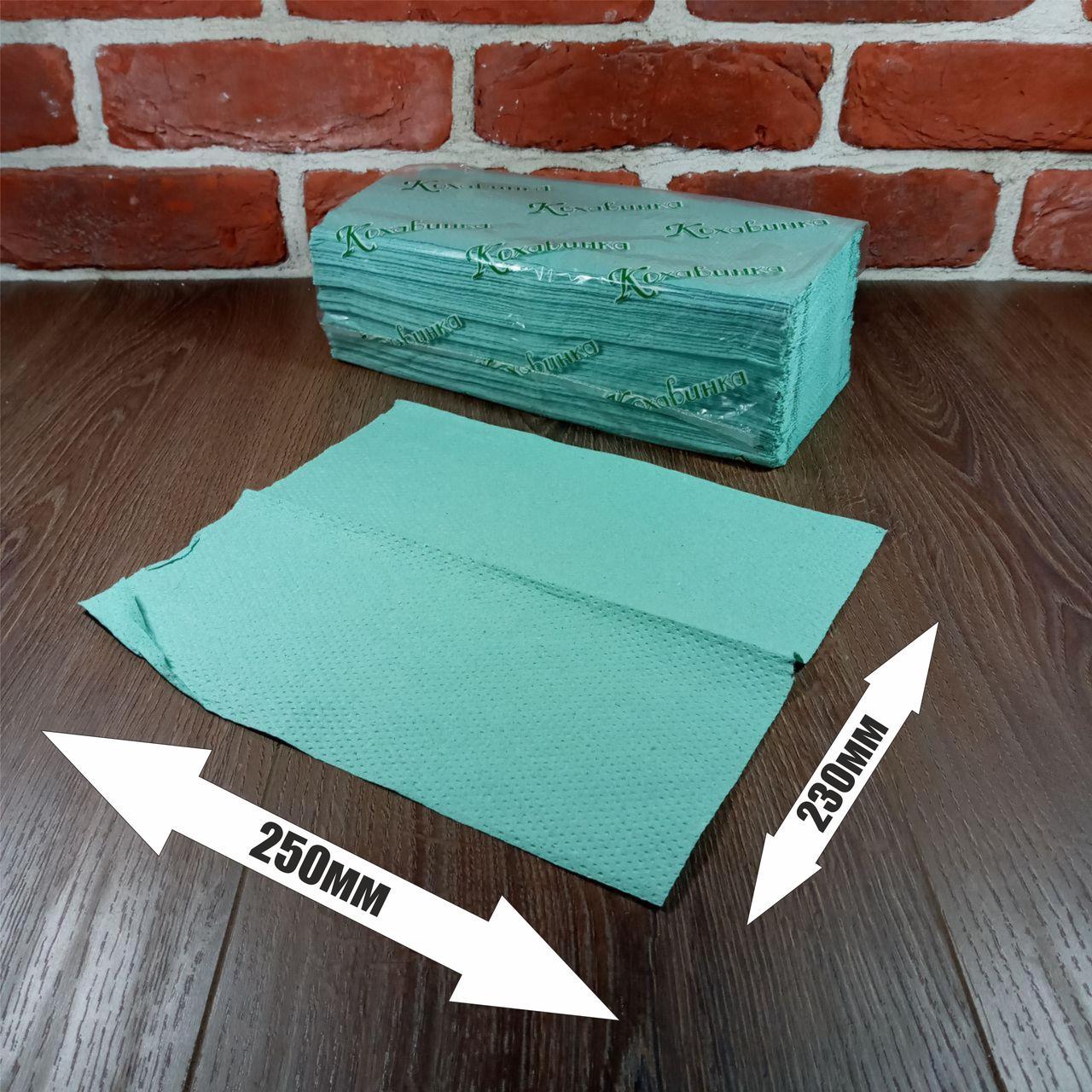 Рушники паперові ZZ зелене 170листов Каховинка