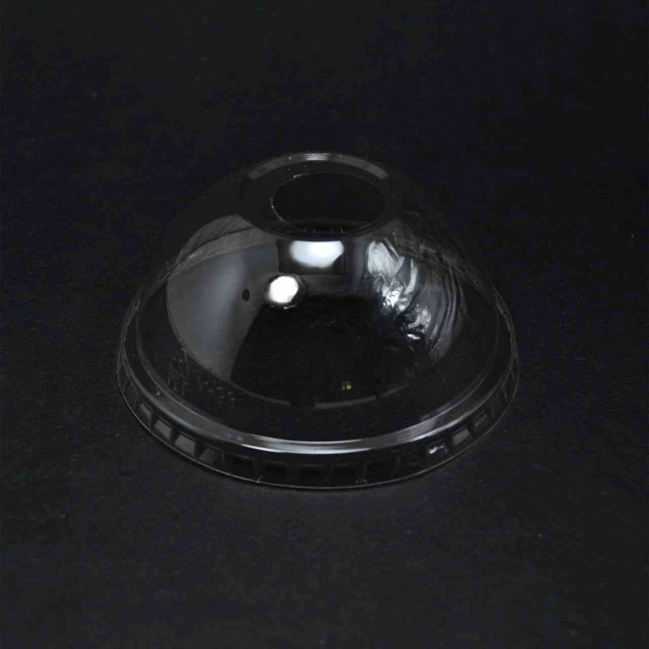 Кришка півсфера з отвором РЕТ 92мм (50 шт)