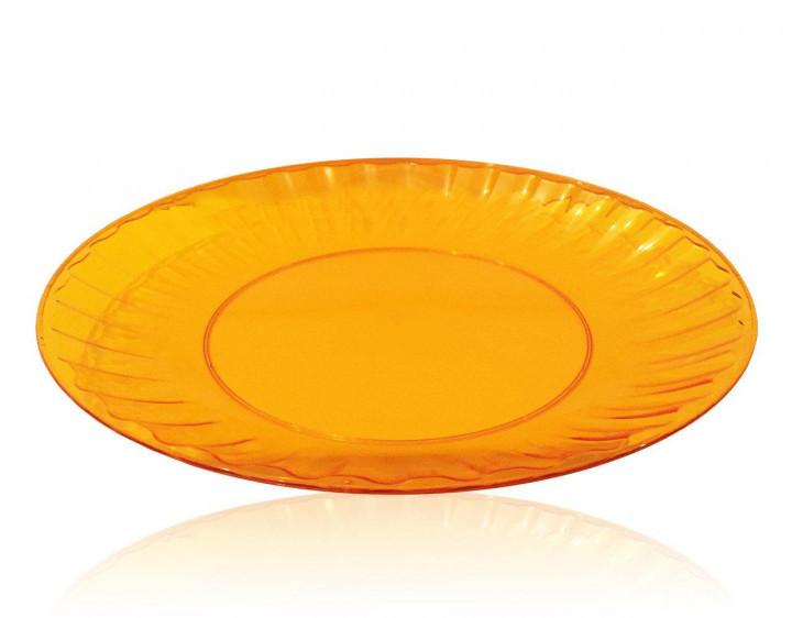 Тарілка 205 мм склоподібна, помаранчева 10 шт