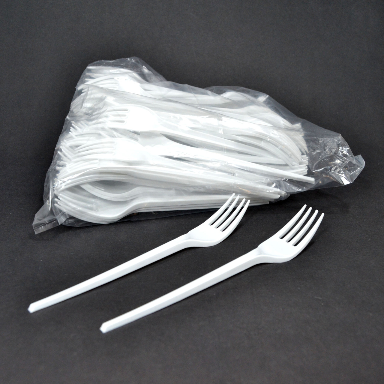 Вилки пластиковые 16 см 100 шт Белые СПГ