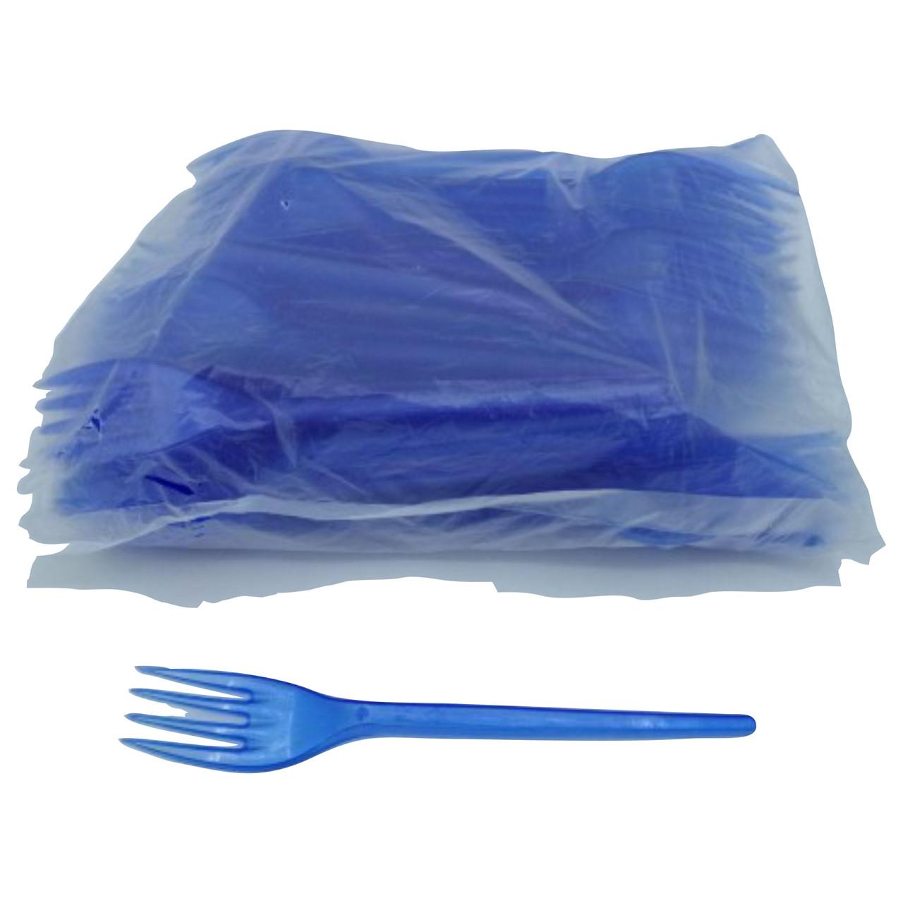 Вилки пластикові 100 шт Сині Юніта