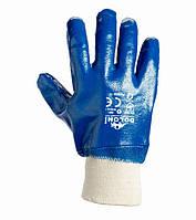 Перчатки с нитриловым покрытием и вязаным манжетом Doloni D-Oil синие 850