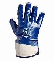 Перчатки с нитриловым покрытием и краги манжетом Doloni D-Oil синие 851