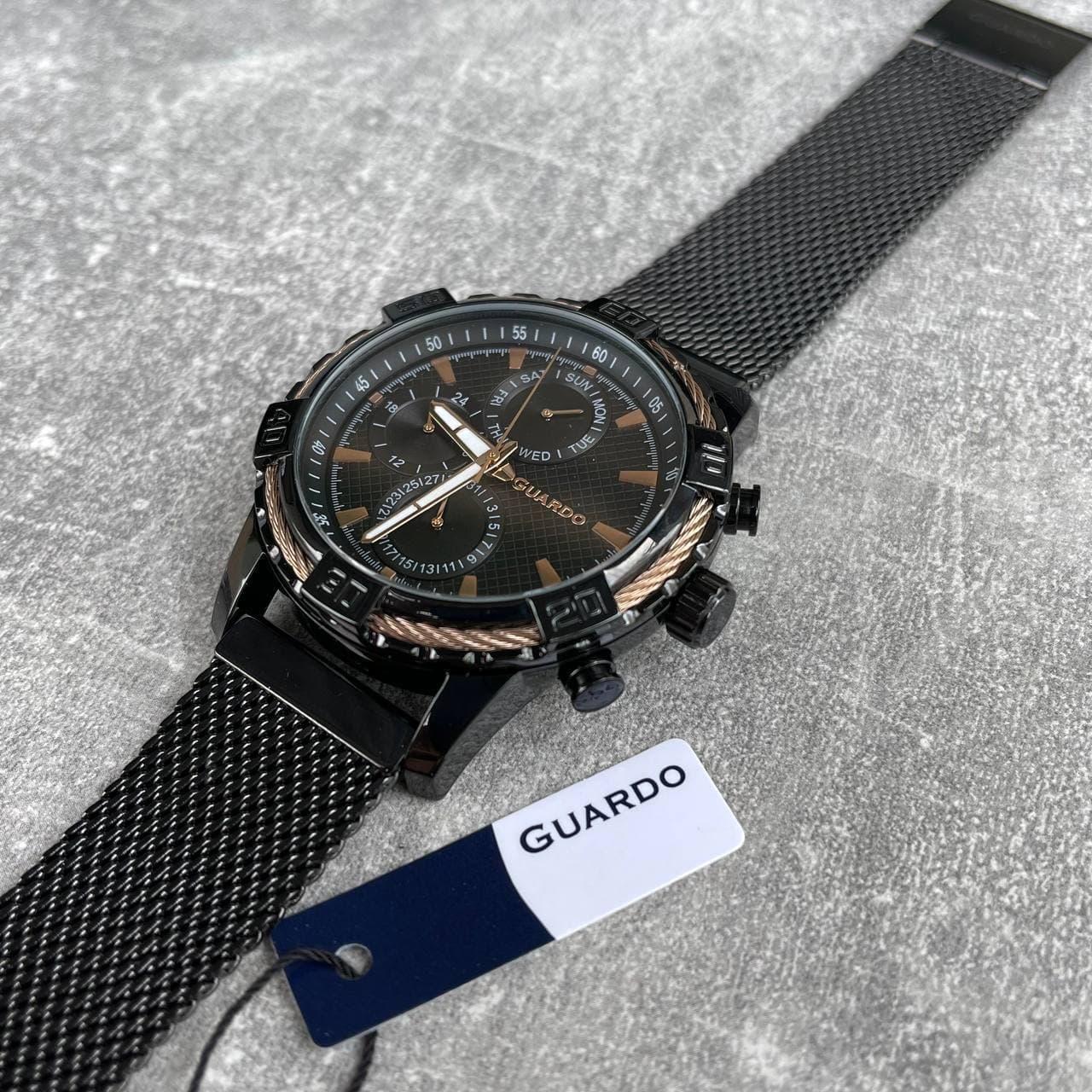 Годинники наручні Guardo B01352-5 Black-Cuprum оригінальні відмінної якості