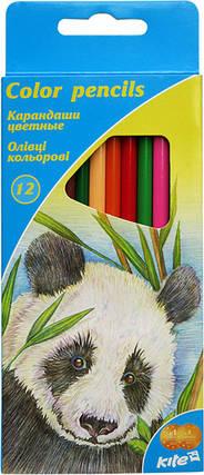 Карандаши цветные KITE K16-053-0115 трехгранные (12 цветов), фото 2