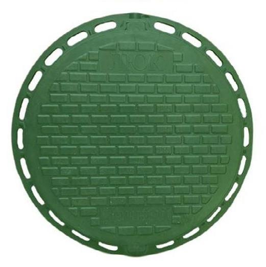 """Каналізаційний люк """"Дачний"""" полімерний (зелений) 1т"""