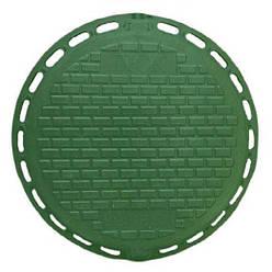 """Каналізаційний люк """"Дачний"""" з замком полімерний (зелений) 1т"""